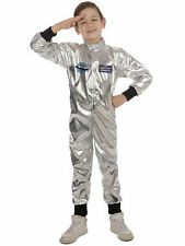 Age 4-11 Boys Astronaut Spaceman Suit Kids Child Book Week Fancy Dress Costume