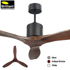 "Brilliant Galaxy Propellor Ceiling Fan DC 54"" 3 Blade with LCD Remote 3 Colours"