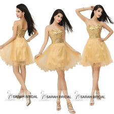 Cheap Glitter Gold Sequin Short Party Dresses Cocktail Homecoming Prom Ball Gown