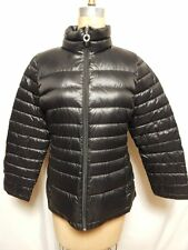 Calvin Klein Lightweight Quilted Down Packable Puffer Coat L Black NWT