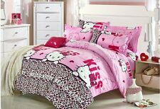 Hello Kitty Bedding Bed set in 3 sizes Reactive Printing Cotton filling