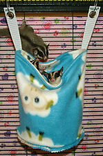 MTO SUGAR GLIDER / RAT CAGE POUCH, BED, SACK, TOY - MANY FABRIC CHOICES