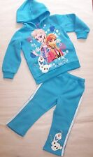 BNWT GIRLS FROZEN BLUE HOODED TRACKSUITS  SIZE 3-8