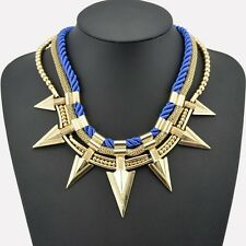 Blue Arrow Statement Necklace Fashion Jewellery Beauty Rope Pendant Chain