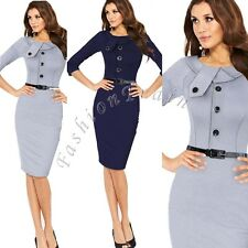 Women Celebrity Slim Tunic Bodycon Business Casual Party Pencil Cocktail Dress