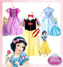 Official Disney Princess Dress Costume Snow White Cinderella Girls Kids