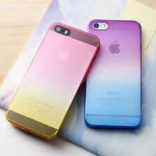 Colorful Ombre Clear Silicone Case Cover Skin For iphone 6 PLUS 5S 4S