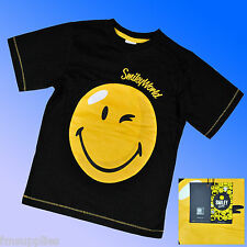 Boys Smiley Emoji T Tee Shirt Top Age 7-13 Years * 1st Class Fast Post to UK
