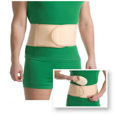 Medical UMBILICAL HERNIA SUPPORT BELT with a Removable Foam pad UNISEX Beige