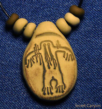Bigfoot Sasquatch Ancient Native American Rock Art~Hairy Man~ Pendant Necklace