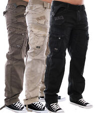 GANGSTER UNIT BY GEOGRAPHICAL NORWAY FREIZEIT TROUSERS CARGO HOSE ARMY HOSE