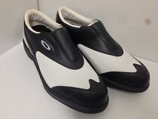 Ladies Oakley Golf Vented Laceless Golf Shoes-Black/White **NEW**