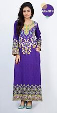 Indian Designer Maxi Long Dress Kaftan Abaya Caftan Purple