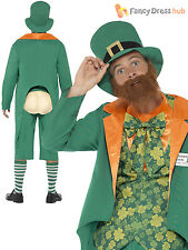 Adult Mens Funny Leprechaun Fancy Dress Costume St Patricks Day Irish Stag Do