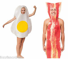 Bacon & Egg English Breakfast Food Couples Costume Novelty Comical Fancy Dress
