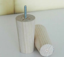 Brand New RAW Cylinder Shape T-Nut timber feet 12cm (H) for Sofa Lounge Bed
