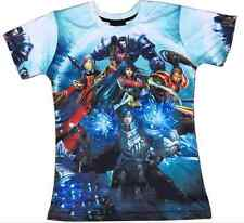 Mans 3D LOL League Of Legends Bright Goddess Lux &Teemo T-Shirts Short Sleeves