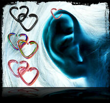Sugarbullet Coloured Heart Shaped Earring Ring Stud - Tragus Helix Cartilage