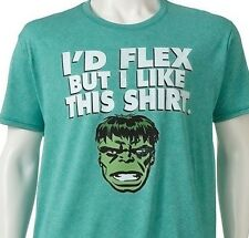 Incredible Hulk Mens Moisture Wicking Compression Green Marvel Comics Tshirt NEW
