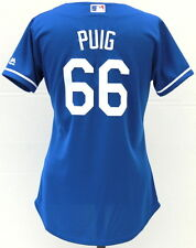Los Angeles Dodgers Yasiel Puig #66 New Cool Base Women's Majestic Jersey - Blue