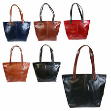 Large Ladies Soft Geniune Italian Leather Tote Design Shoulder bag H036