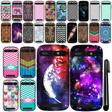 For ZTE Warp Sync N9515 Design TPU SILICONE Soft Skin Phone Case Cover + Pen