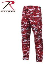 H.W. Red Digital Camouflage Military BDU Cargo Bottoms Trouser Camo Pants 99640