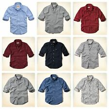NWT Hollister by Abercrombie Mens Long Sleeve Shirts All Colors, All Sizes