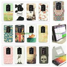 Slim Smart Wake Window View Flip Leather Case Cover Stand For LG Optimus G2 D800