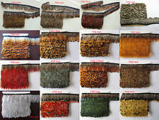 wholesale 5-10m/bag natural pheasant feathers ribbon choose different style