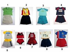 NEW Infant Baby Boys 2 PC Outfit Set Tops Pants Size:3-6,6-9,12,18,2T Mix Brands
