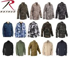 Solid & Camouflage Military Combat Tactical Poly/Cot Fatigue BDU Shirt