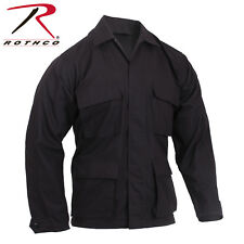 Black Military Tactical 100% Cot Rip-Stop Fatigue BDU Shirt 5920