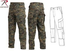 Woodland Digital Camouflage USMC Military Style Tactical RipStop BDU Pants 5217