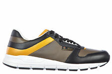 GUCCI MEN'S SHOES LEATHER TRAINERS SNEAKERS NEW MIRO S GREY  61E