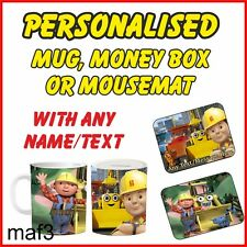 Personalised Bob the Builder Tea Mugs Cup Kids Childrens Gifts Printed Any Name
