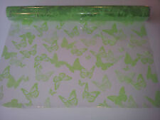 Clear Cello~ green butterfly design. Ideal hamper wrap inc pull bow & FREE CARD