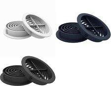70mm Plastic Round Push In Air Vent Fit Eaves, Fascia, Roof Soffit Menu Choice