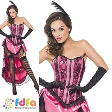 FEVER BURLESQUE CAN CAN SHOW GIRL - UK 8-18 - womens ladies fancy dress costume
