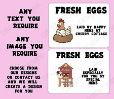 180 LARGE PERSONALISED CHICKEN EGG BOX LABELS QUAIL LABELS DUCK EGGS
