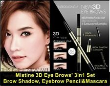 Brows Secret Mistine 3D Eye Brows' 3in1 Set - Brow Shadow,Eyebrow Pencil&Mascara