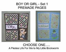 """BOY OR GIRL"" -SET 1 - Premade Page 12x12-Choose One-Just Add Pics!"