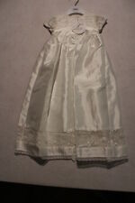 Baby Unisex Size 000,00,0 Bebe Ivory Taffeta Christening Gown With Lace NWT