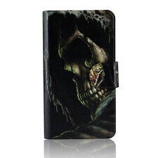 Black Skull Poker Magnetic PU Leather Flip Case Cover For Samsung Galaxy 13