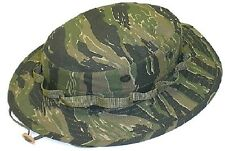 Military Tactical Dark Tiger Stripe Camo Boonie Hat US Made Gov't Contract  308