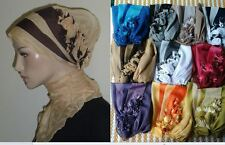Lot of 10 Fancy Hijab Bonnet Scarf Party Turban Chemo Hat Wholesale Free Ship