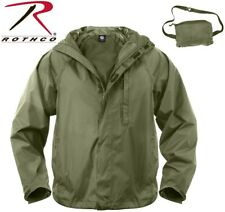 Olive Drab Green Tactical Waterproof Packable Outerwear Rain Jacket 3854 #1