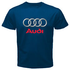 Audi Cars T-Shirt Mens Black / Navy Blue S - 2XL