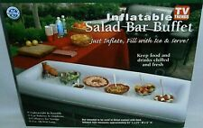 """INFLATABLE SALAD BAR  Indoor & Outdoor Use  51""""L x 21""""W x 5""""H  PINK/BLUE/GREEN"""