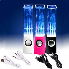 LED Music Show Water Dancing Fountain Light Speakers for Computer Laptop Phone